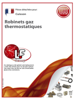 Robinets gaz thermostatiques