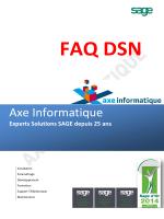 Notre FAQ DSN - Axe Informatique