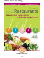 Restaurants - Destination Brabant wallon