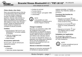 Bracelet fitness Bluetooth® 2.1