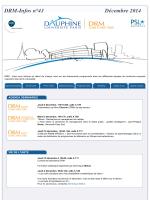 DRM-Infos n°43 - Dauphine Recherches en Management