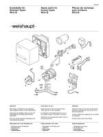 Ersatzteile für Brenner-Typen WL5-B Spare parts for burner types
