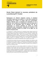 Xavier Buck devient le nouveau président du Luxembourg ICT Cluster