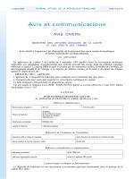 2 avis 7 oct. 2014, NOR AFSP1421431V et AFSP1421433V JO, 7