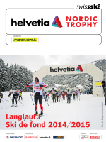 Broschüre Helvetia Nordic Trophy 2014/15 - Swiss-Ski