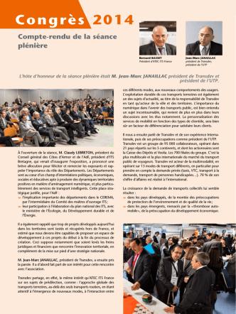 Congrès 2014 - Les rencontres de la Mobilité Intelligente