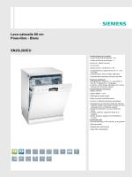 Lave-vaisselle 60 cm Pose-libre - Blanc SN25L283EU