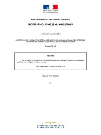 BOFIP-RHO-15-0529 du 04/02/2015
