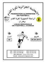 Tél. : 041.33.23.81 - Ligue Régionale de Football d`Oran
