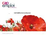 Diaporama Cap Emploi - Club Handi