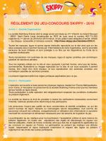 Réglement du jeu Skippy Chandeleur 2016