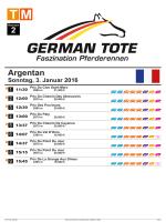 Programm - German Tote