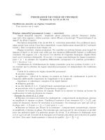 PCSI 1 PROGRAMME DE COLLE DE PHYSIQUE Semaine du 14