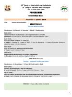 PRE PROGAMME - Société Algérienne de Radiologie et d`Imagerie