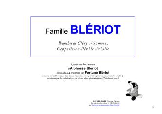 Bleriot - Racines & Histoire