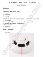 DVR-0031-3 user manual