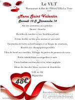 Menu Saint Valentin Le VLT
