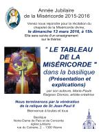 """"""" LE TABLEAU DE LA MISÉRICORDE """" dans la basilique"""
