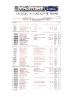 les Résultats des Compétitions