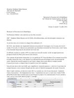 Plainte Procureur