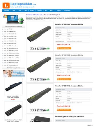 Akku für HP COMPAQ 8510w