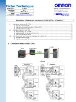 Connexion Modbus aux variateurs V1000 (CP1L - Support