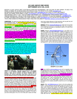 432 AND ABOVE EME NEWS SEPTEMBER 2014 VOL