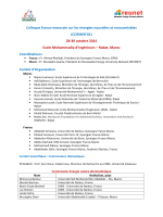 Comités - reunet
