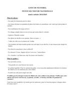 LISTE DE MATERIEL PETITE SECTION DE MATERNELLE Année