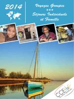 Voyages Groupes *** Séjours Individuels et Famille - CCE