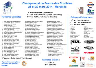 (Aplomb Bâtiment)… - Championnat de France des Cordistes