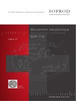 Mouvement mécatronique Mechatronic movement SOP 716
