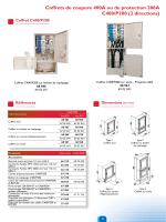 Coffrets de coupure 400A ou de protection 200A C400/P200