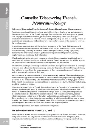 Conseils: Discovering French, Nouveau!–Rouge