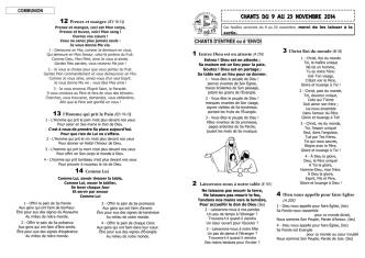 chants du 9 au 23 novembre 2014 - Marne-Aube-Patrimoine.