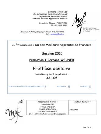 (Sujet MAF Prothèse Dentaire 2015def)