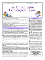 La Chronique Longuyonnaise - Site Officiel de la Mairie de Longuyon