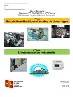 Motorisation électrique et modes de démarrages L