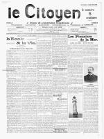 Février 1912 - Site en travaux, le week