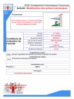 Activité - Lycée polyvalent de Taaone / STI2D / Enseignement