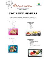 Ateliers cuisine - Sushis spéciaux - Ville de Mont-Saint
