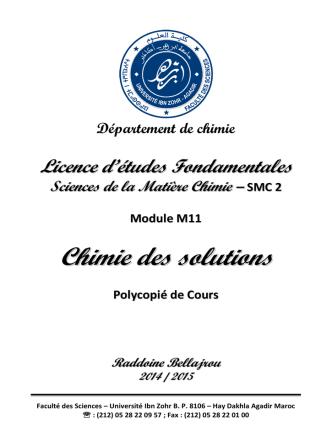 Chimie des Solution_14-15 - plate forme pedagogique de la