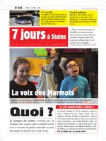 7 jours à Stains n°828 du 16 avril 2015