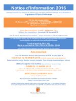 Notice d`information concours EI 2016 - IFSI HOPITAUX - AP-HM
