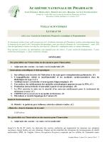 veille scientifique - Académie Nationale de Pharmacie
