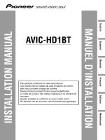 manuel d`installation installation manual avic-hd1bt