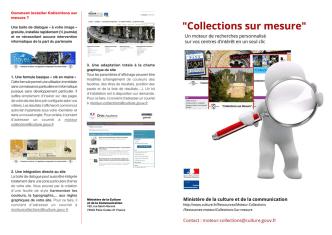 Collections sur mesure, un moteur de recherches personnalisé sur
