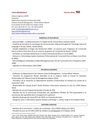 CV d`Imed Boughzala