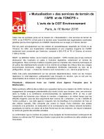 Avis CGT - La CGT Equipement