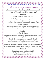 to view menu - The Rooster Restaurant & Jamison Guest House